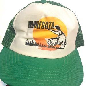 VTG MINNESOTA Loon Snapback Trucker Hat Cap